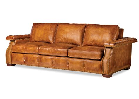 light colored leather sofa