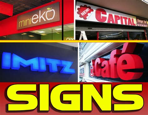 shop front signsinterior signagemenu light boxes