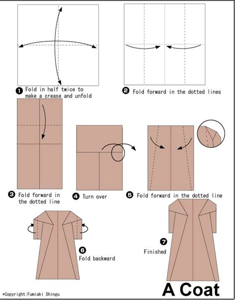 How To Make Clothes From Paper - origami coat origami clothes accessories