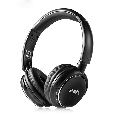 Headphone Nia nia q1 bluetooth headphones black