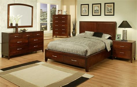 Solid Cherry Bedroom Furniture | 4 pc ayca solitude solid cherry panel bedroom set