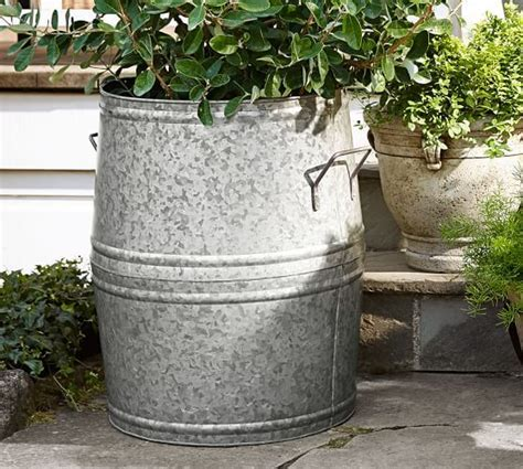 metal planters galvanized metal and planters on pinterest