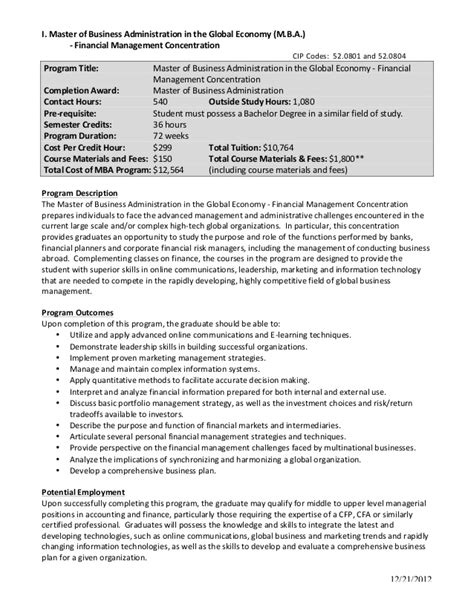 master of business administration resume resume ideas