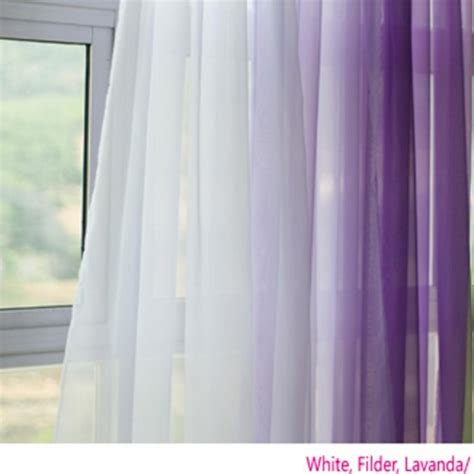 Lavender Sheer Curtains Voile Silk Sheer Curtains