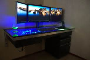 Awesome Desks by This Is A Table With A Built In Pc Case Gaming