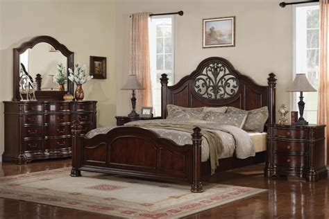 mansion bedroom set wynwood heritage manor cherry king size mansion bed