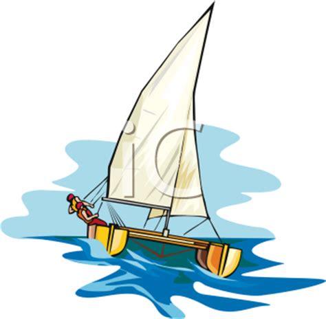 catamaran images clip art person on a catamaran sailing royalty free clipart image