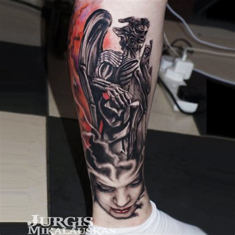 badass tattoo angel foot tattoo on tattoochief com