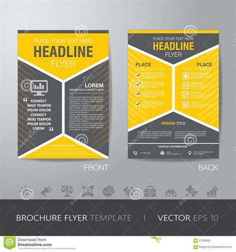 corporate hexagonal brochure flyer design layout template