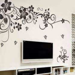 romantic flower wall sticker stickers home decor wallpaper mural large sofa background from