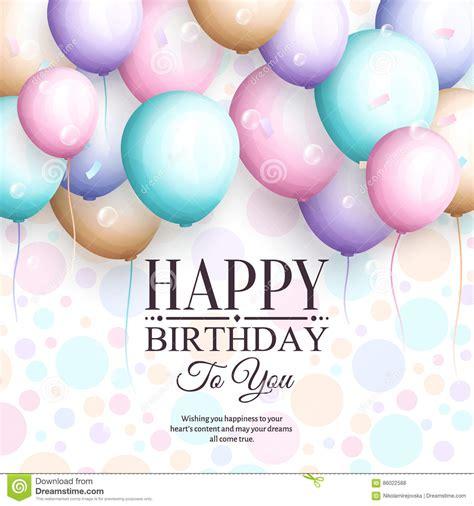 imagenes elegantes feliz cumpleaños tarjeta de felicitaci 243 n del feliz cumplea 241 os globos en