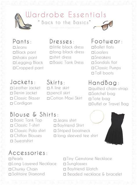 Basic Wardrobe Checklist by Best 25 Basic Wardrobe Essentials Ideas On