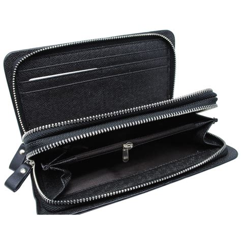 dompet kulit pria premium model panjang black