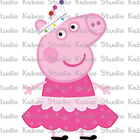 peppa pig ballerina clip art printable ballet gown princess peppa inspired party