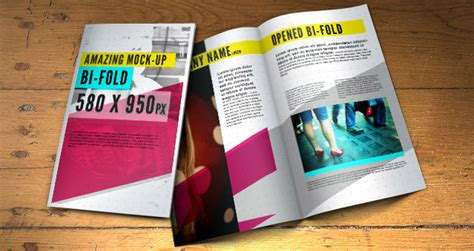 Psd Bifold Brochure Mock Up Template Psd Mock Up Templates Pixeden Brochure Mock Up Template