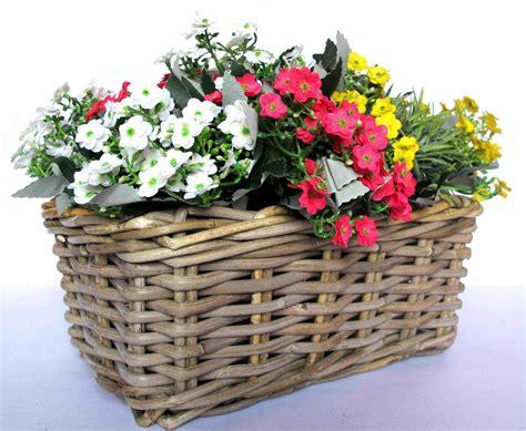 Flower Basket by Rattan Grey Kubu Grey Kobo Basketwares Basketry