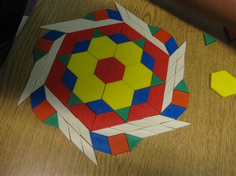art using pattern blocks geometry classes make tessellations heritage academy
