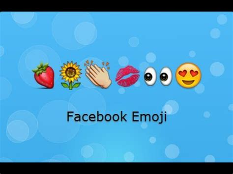 emoji youtube facebook emoji youtube
