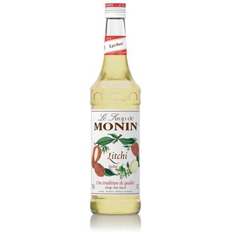 monin syrup lychee 700ml glass 6 5074010