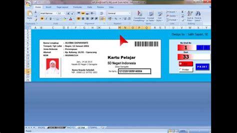 aplikasi pembuat barcode gratis mencetak kartu pelajar dan nisn dilengkapi font barcode