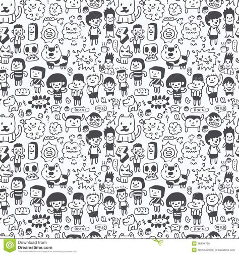 black and white zombie pattern seamless cartoon pattern royalty free stock image image
