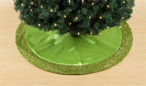 trim a home 174 lime green satin tree skirt with lime green