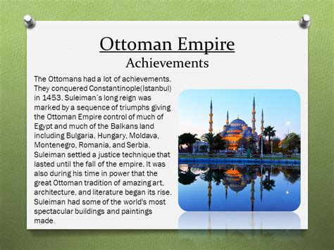 Accomplishments Of The Ottoman Empire The Ottoman