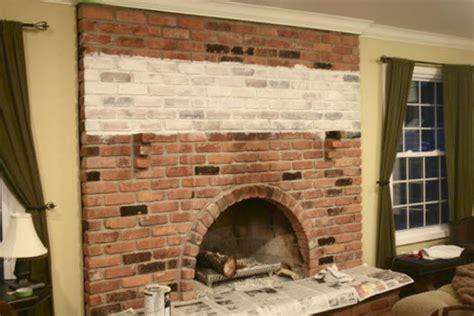Whitewash Brick Fireplace by The Yellow Cape Cod White Washed Brick Fireplace Tutorial