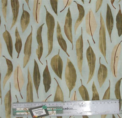 Patchwork Fabric Australia - patchwork quilting sewing fabric australian gum leaves