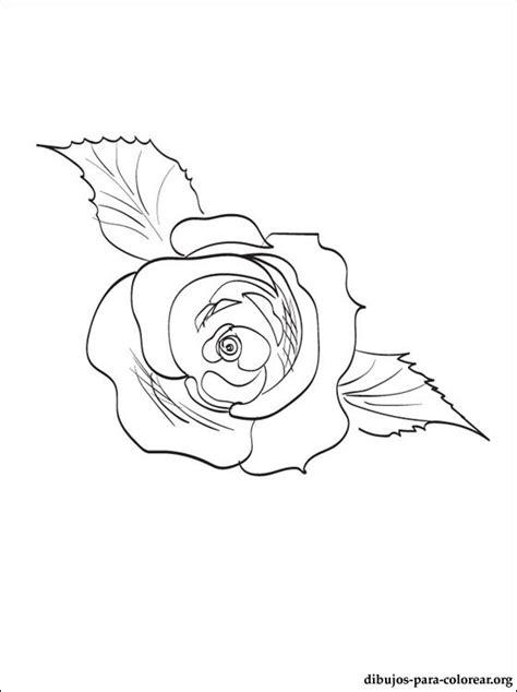 Dibujo de Rosa para pintar y colorear | Dibujos para colorear