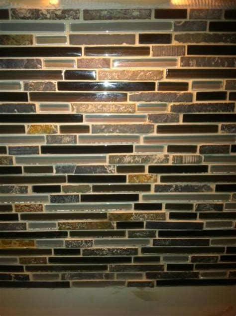 dried grout on stone help mosaic backsplash