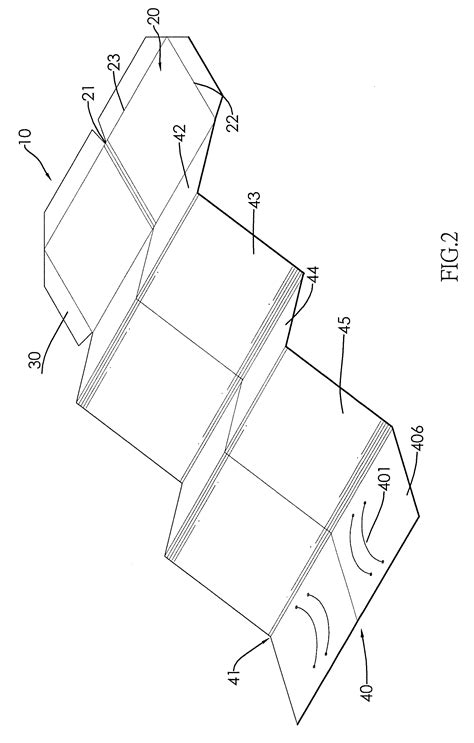 paper wallet template patent us20120312435 foldable cardboard template and