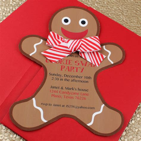 cookie invitation template gingerbread cookie invitation template
