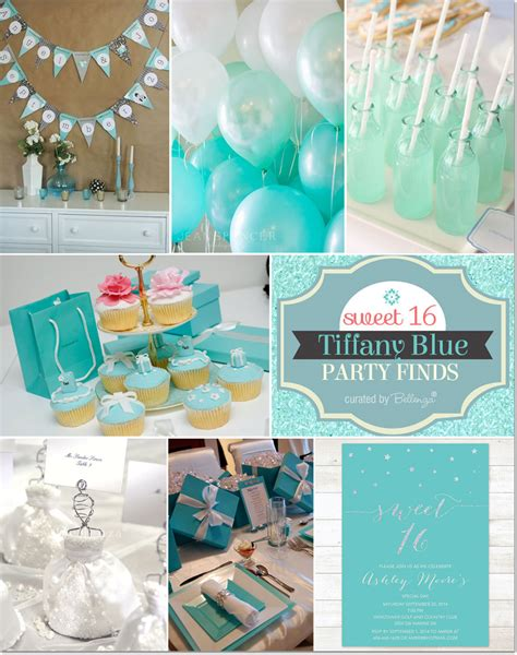 party themes with blue tiffany blue themed sweet 16 party ideas