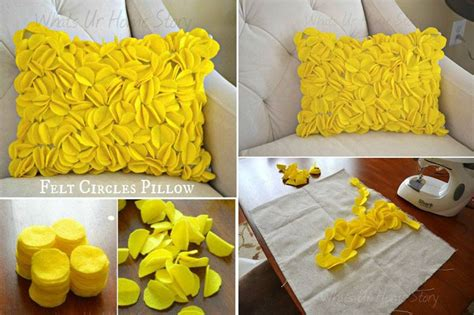 How To Make Pillows For by Diy Felt Circle Decorative Pillows How To