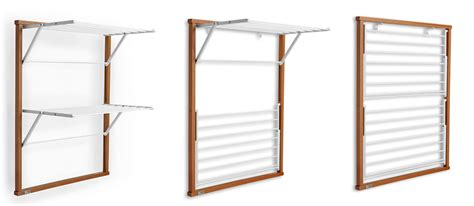 Wall Hung Drying Rack by Wall Mounted Wooden Laundry Drying Rack