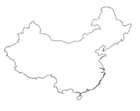 outline of map free coloring pages of outline map of china