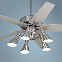 silver ceiling fan 52 quot windstar ii brushed steel with silver ceiling fan