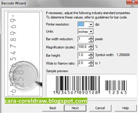 tutorial membuat barcode dengan corel draw cara membuat barcode coreldraw mudah coreldraw