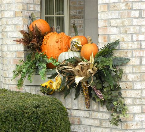 decorating window boxes for fall fall containers traditional exterior chicago by