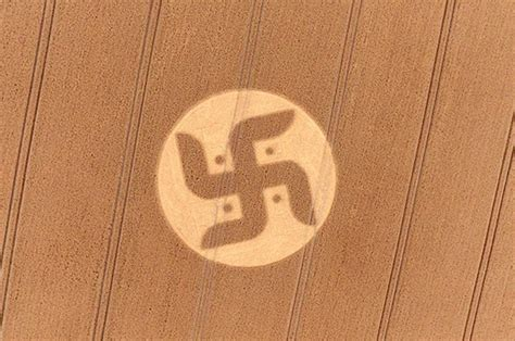 the inquisitive loon the shape of things swastika crop circle found in field in wiltshire daily star