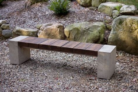 bench landscape wood concrete metal benches landscaping network