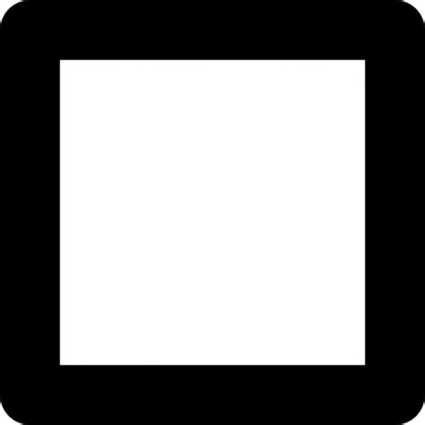 Rounded Corners Outline Css by Square Outline Of Slightly Rounded Corners Icons Free