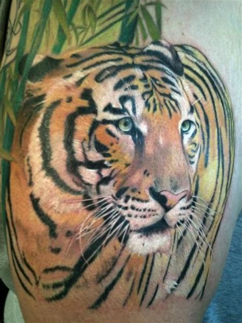 realistic tiger tattoo realistic tiger by cartel ink works