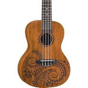 luna guitars tattoo concert mahogany ukulele guitar center