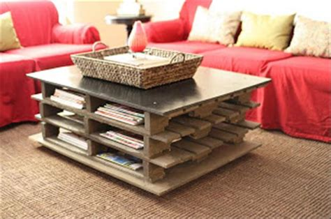 used pallet to make a coffee table dump a day