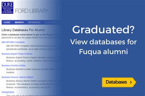 Duke Fuqua Mba Employment Report by The Ford Library At Duke S Fuqua School Of Business