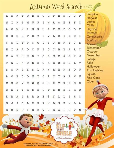 printable word search autumn 17 best images about word search children on pinterest