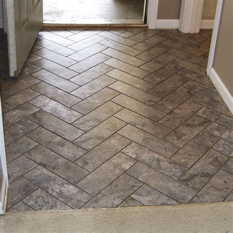 Herringbone Pattern Vinyl | diy herringbone peel n stick tile floor grace gumption