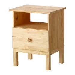 Tarva bedside table ikea made of solid wood which is a hardwearing